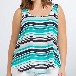 Torrid | Striped Georgette Pocket Tank